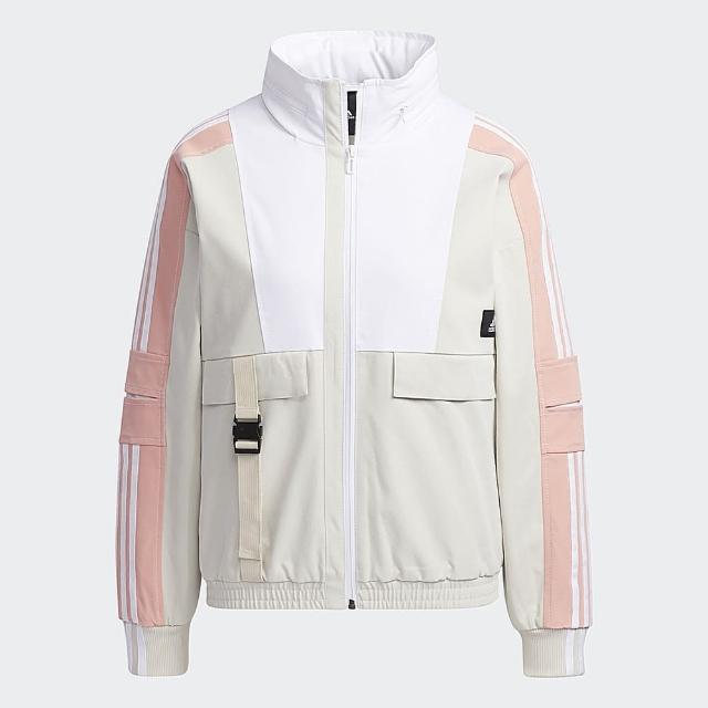 【adidas 愛迪達】ADIDAS STR JKT WARM 女刷毛風衣外套 GP0635