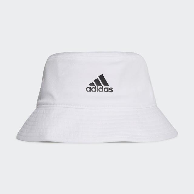 【adidas 愛迪達】Adidas Cotton Bucket 男女 漁夫帽 運動 休閒 田徑 慢跑 遮陽帽 白(H36811)