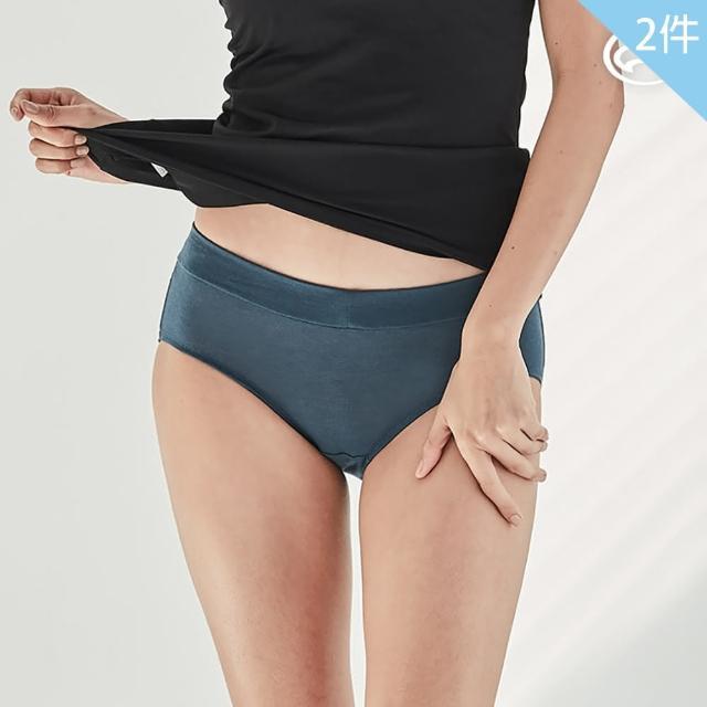 【ADISI】女smartcel混紡蠶絲抑菌抗臭中腰拼接三角內褲AUP2111173 兩入(天絲 氧化鋅 消臭 親膚 吸濕)