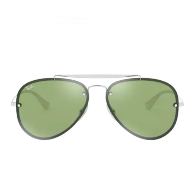 【RayBan 雷朋】將軍系列雙槓款綠色鏡片(3584N-905130)