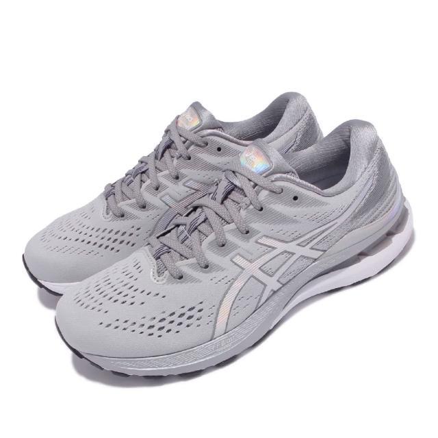 【asics 亞瑟士】慢跑鞋 GEL-Kayano 28 男鞋 亞瑟士 白金版 高支撐 旗艦 緩震 亞瑟膠 灰白(1011B291020)