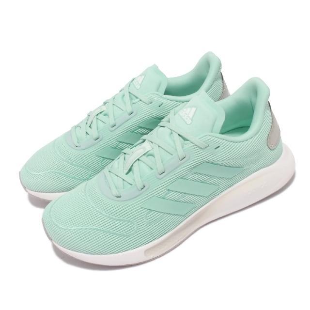 【adidas 愛迪達】慢跑鞋 Galaxar Run 運動 女鞋 愛迪達 輕量 透氣 路跑 健身 反光 綠 白(FV4736)
