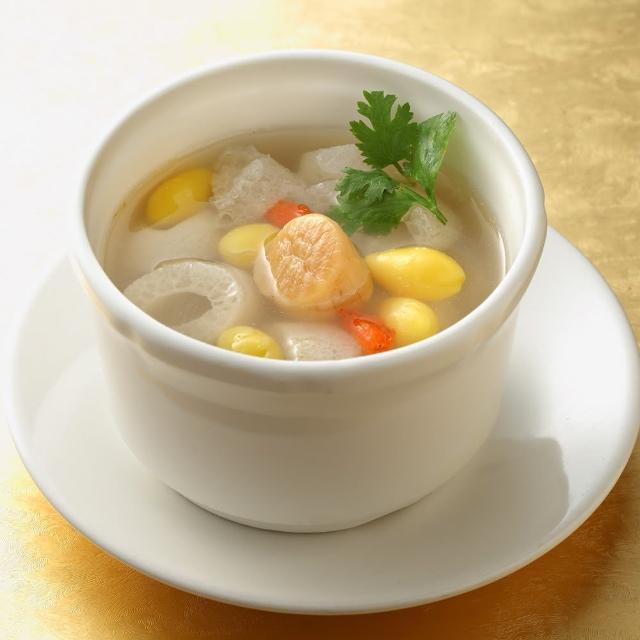 【上野物產】餡老滿 竹笙干貝湯 x1包(300g±10%/包)