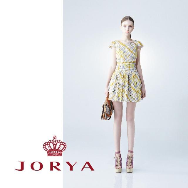 【JORYA】weekendG2203002繽紛格紋交叉無袖連身洋裝