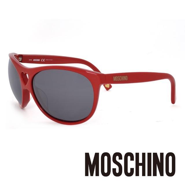 【MOSCHINO】義大利 愛心圓框 摩登太陽眼鏡(紅-MO50004)
