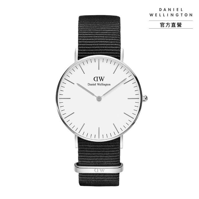 【Daniel Wellington】官方直營 Classic Cornwall 36mm寂靜黑織紋錶(DW手錶 DW00100260)