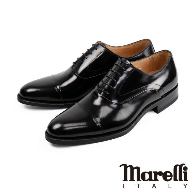 【Marelli】都會時尚橫飾牛津鞋 黑色(S92818-BL)