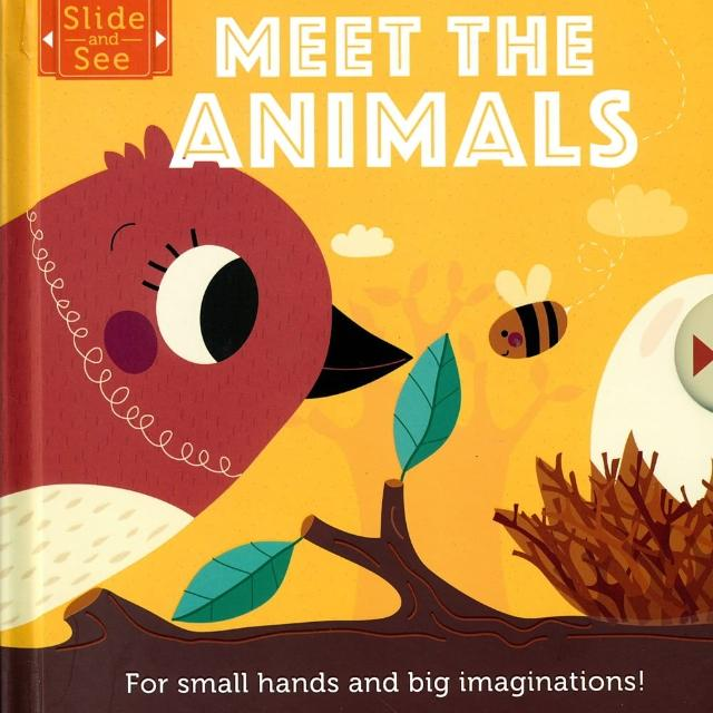 【Song Baby】Slide And See:Meet The Animals 硬頁推拉書:認識動物(操作書)