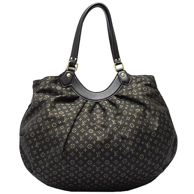 【Louis Vuitton 路易威登】M40408 Monogram Fantaisie 小牛皮飾邊圓弧肩背包(木炭色)