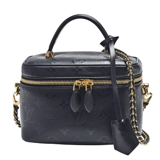 【Louis Vuitton 路易威登】M57118 VANITY PM系列Monogram壓花小羊皮手提/斜背包(黑)