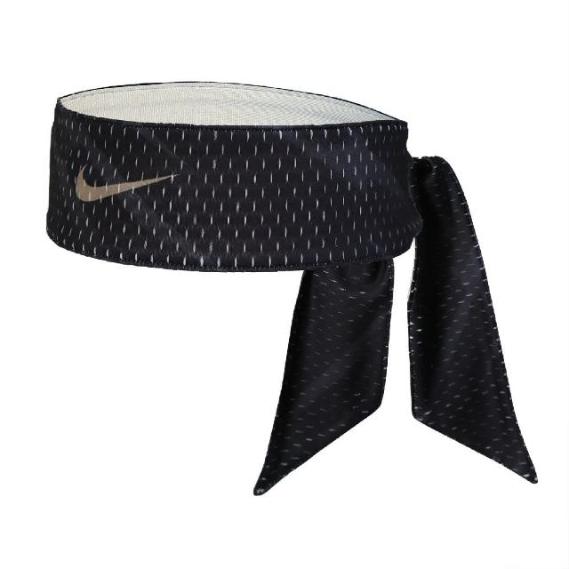 【NIKE 耐吉】頭帶 Dri-Fit Head Tie 男女款 吸濕排汗 快乾 雙面 運動 網球 黑 白(N100303994-1OS)