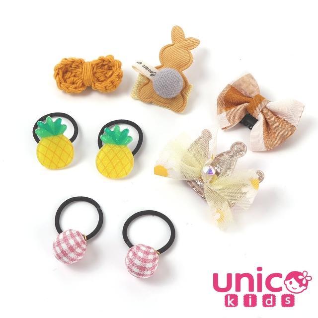 【UNICO】嬰兒少髮量寶寶無敵可愛造型汗毛夾髮夾髮圈/髮飾(飾品/配件/無敵可愛造型/黃色)