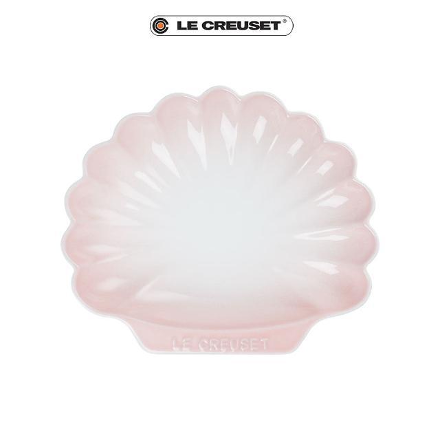 【Le Creuset】瓷器貝殼盤-中(淡粉紅)