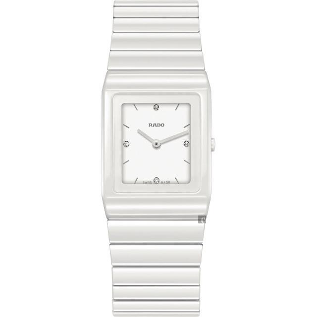 【Rado 雷達表】Ceramica 整體陶瓷系列鑽石女錶(R21703712)