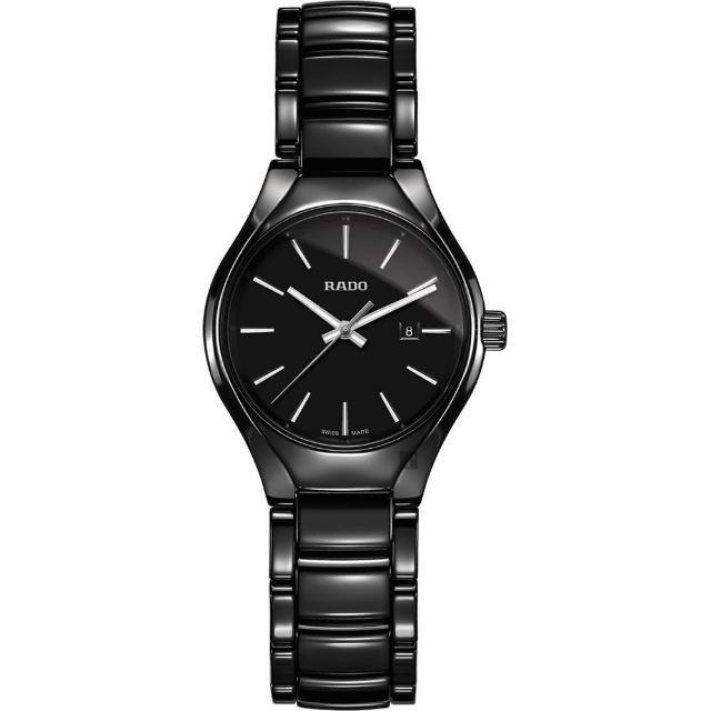 【Rado 雷達表】True 真系列 高科技陶瓷石英女錶-30mm(R27059152)