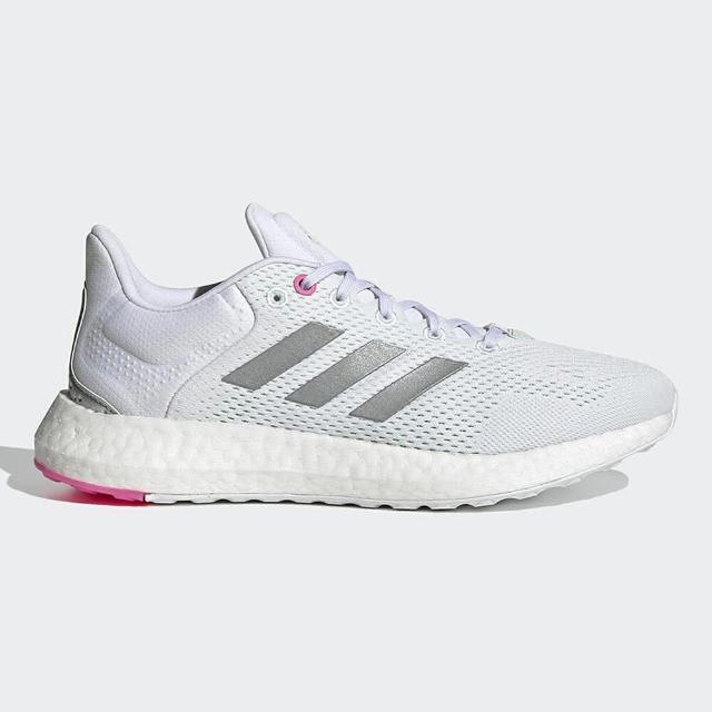 【adidas 愛迪達】慢跑鞋 女鞋 運動鞋 緩震 訓練 PUREBOOST 21 W 白銀 GY5097