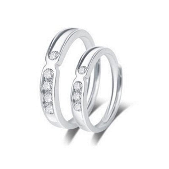 【米蘭精品】925純銀戒指鑲鑽銀飾單件(時尚簡約迷人情侶款情人節生日禮物男女飾品73dx5)