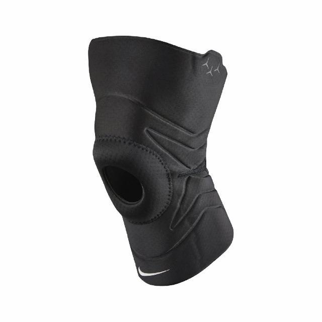 【NIKE 耐吉】護膝Open Patella Knee Sleeve 護具 健身 重訓 開洞 吸濕排汗 透氣 黑 白(N1000675-010)