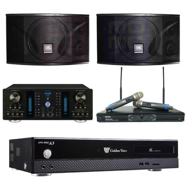【金嗓】點歌機4TB+擴大機+無線麥克風+喇叭(CPX-900 A3+A-350+MR-865 PRO+JBL Ki110)