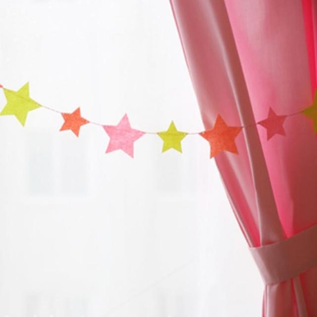 【橘魔法】星星彩色不織布拉條(場地布置 兒童房 活動派對 兒童派對 PARTY 帳篷 裝飾品)