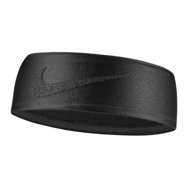 【NIKE 耐吉】頭帶 Dry Wide Headband 男女款 寬版 運動休閒 吸濕排汗 球類運動 跑步 黑(N100342700-1OS)