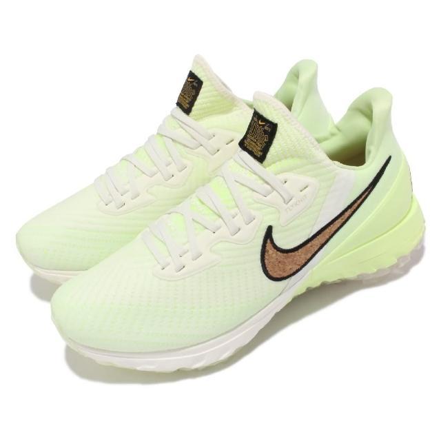 【NIKE 耐吉】高爾夫球鞋Zoom Infinity Tour 男鞋 寬楦 襪套 氣墊 React科技 軟木造型 白綠(DC5050-100)