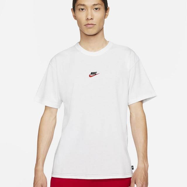 【NIKE 耐吉】短袖上衣 AS M NSW TEE PREMIUM ESSENTIAL 男款 白紅(DB3194101)