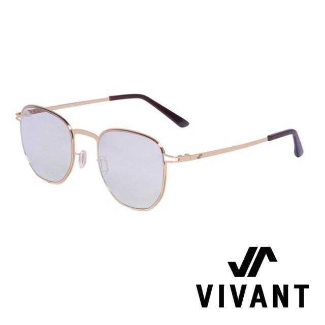 【VIVANT】強勢來襲 金喜善代言-微圓框太陽眼鏡(金 - MIRAGE - C4)
