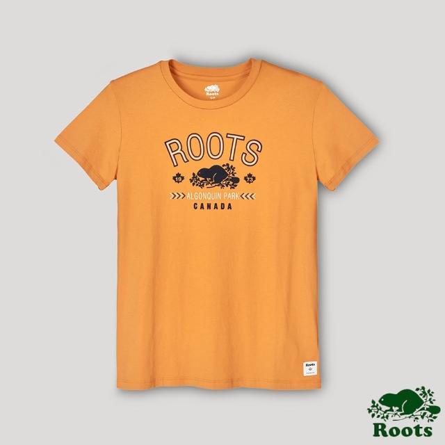【Roots】Roots女裝-復刻海狸LOGO短袖T恤(黃色)