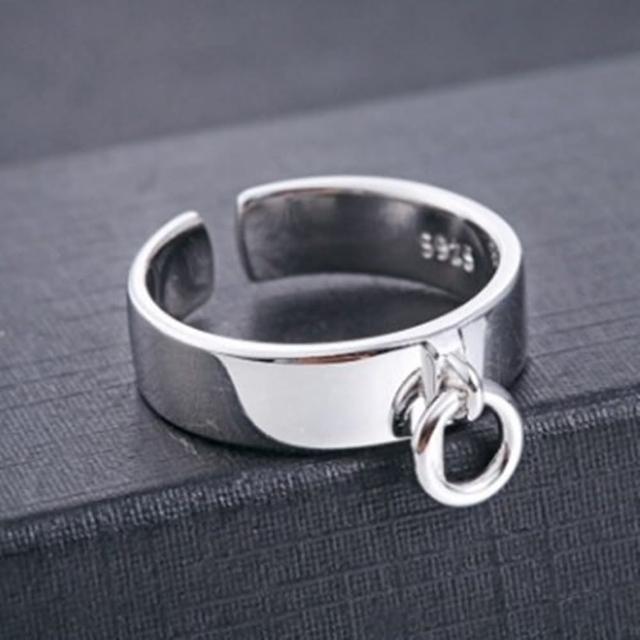 【米蘭精品】925純銀戒指鑲鑽銀飾(簡約時尚韓版設計情人節生日禮物女飾品73dx23)