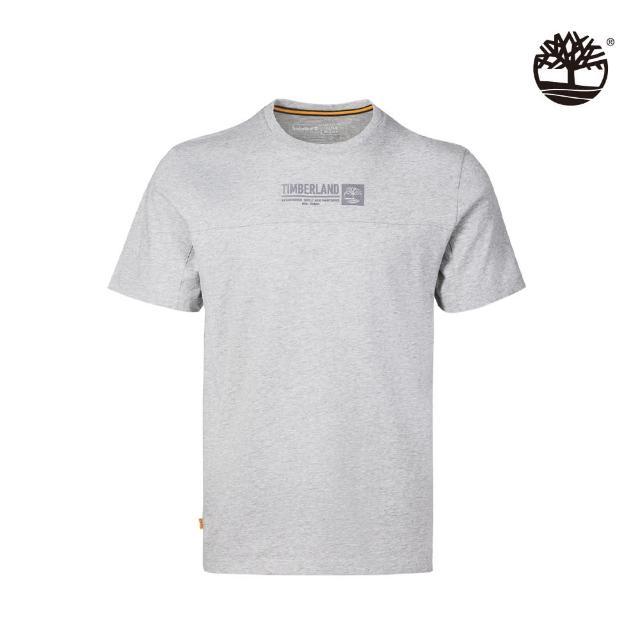 【Timberland】男款中麻灰有機棉Logo短袖T恤(A431R052)