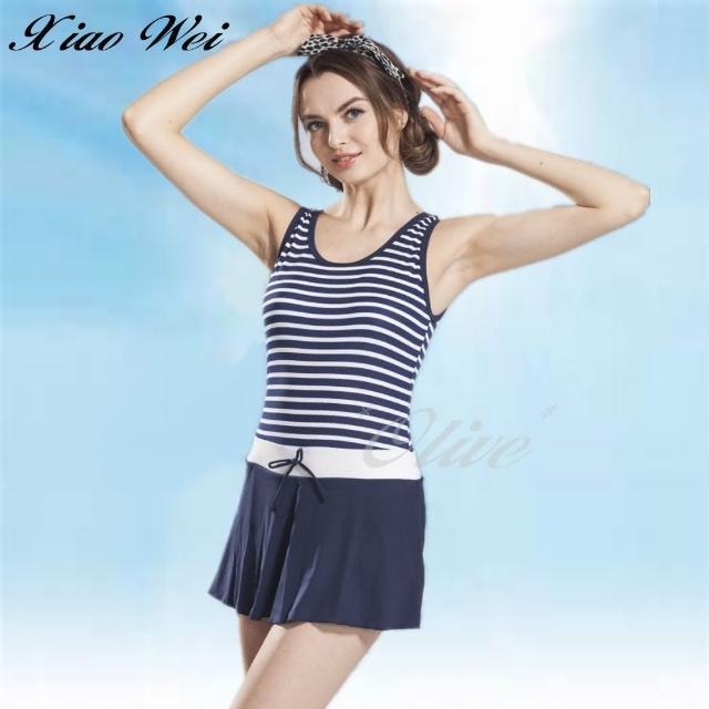【小薇的店】泳之美品牌時尚連身裙泳裝(NO.83928)