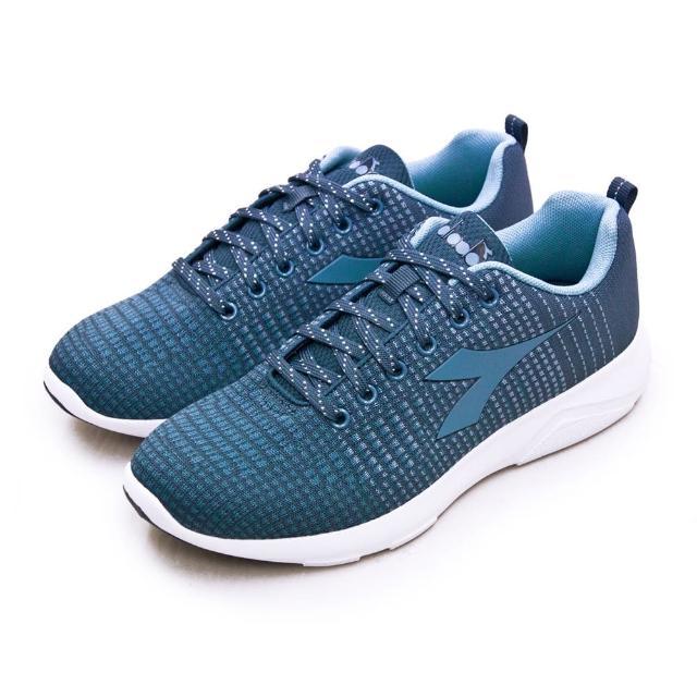 【DIADORA】女 迪亞多那 輕量飛織慢跑鞋 X RUN LIGHT 5系列(霧灰藍 175609-C8133)