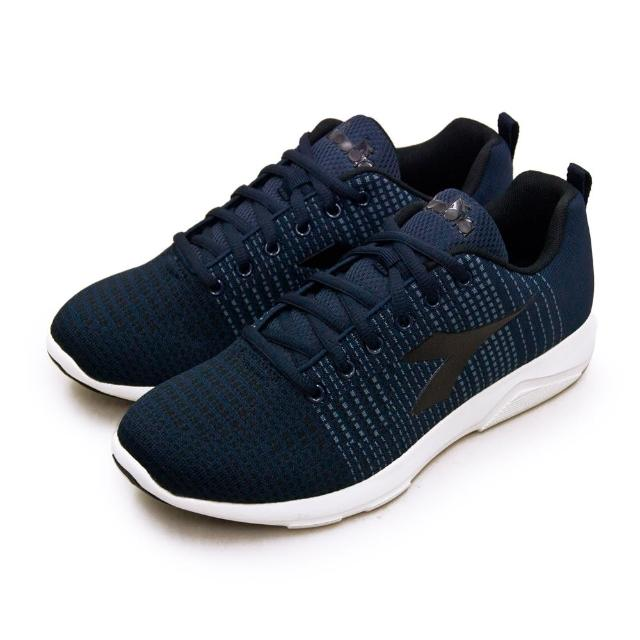 【DIADORA】男 迪亞多那 輕量飛織慢跑鞋 X RUN LIGHT 5系列(藍黑 175608-C8738)