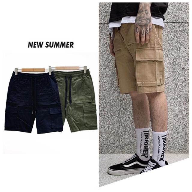 【Dition】寬鬆OUTDOOR口袋短褲 工作褲 居家 山系 抗撕裂 機能抽繩 露營(戶外風OUTDOOR穿搭)