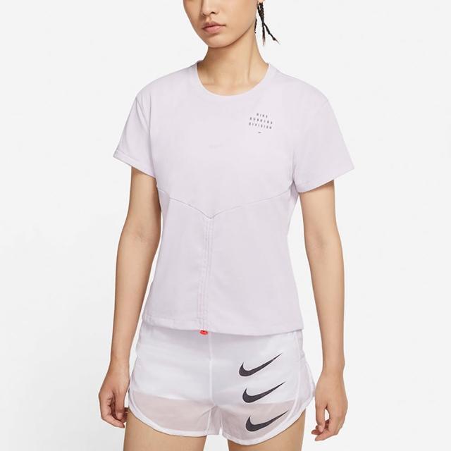 【NIKE 耐吉】上衣 女款 短袖上衣 運動 AS W NK DF RUN DVN TOP SS RCHD 紫 DD5316-511