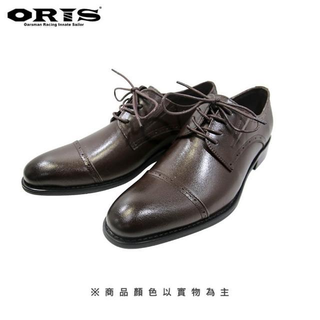 【oris 帆船鞋】ORIS真皮仿木根條紋鞋-深咖啡-S8914N03(真皮/手工/皮鞋)