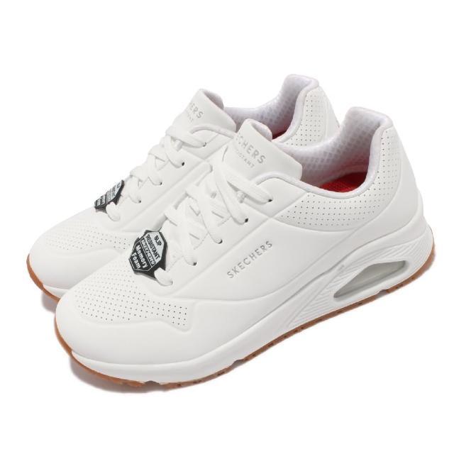 【SKECHERS】休閒鞋 Uno SR 防滑 工作鞋 女鞋 氣墊 耐油 光滑耐用合成鞋面 白(108021-WHT)