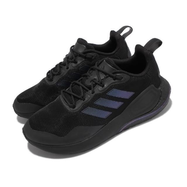 【adidas 愛迪達】慢跑鞋 Alphalava 運動休閒 男鞋 愛迪達 路跑 緩震 輕量 網布 黑(GY3277)