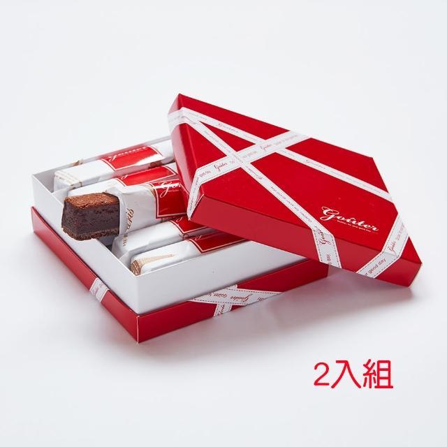 【雅培米堤】真巧巧克力禮盒-6入 2盒組(|巧克力蛋糕|巧克力條|下午茶|點心|伴手禮)