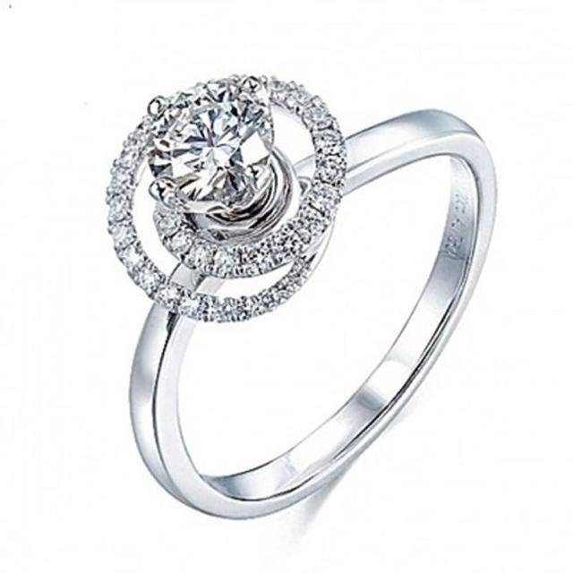【米蘭精品】925純銀戒指鑲鑽銀飾(高貴時尚耀眼迷人情人節生日禮物女飾品73dx120)
