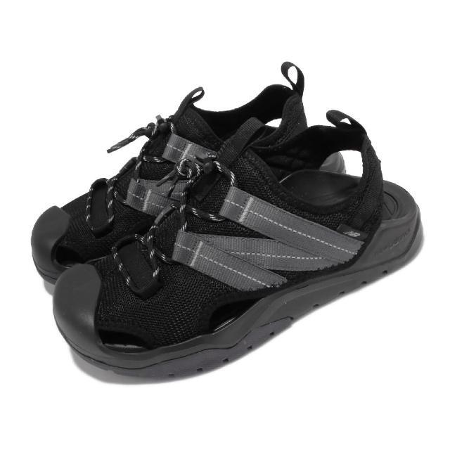 【NEW BALANCE】涼鞋 4205 韓版 包頭 休閒 反光 男女鞋 紐巴倫 彈性繩鞋扣 耐磨大底 情侶鞋 黑(SD4205BKM)