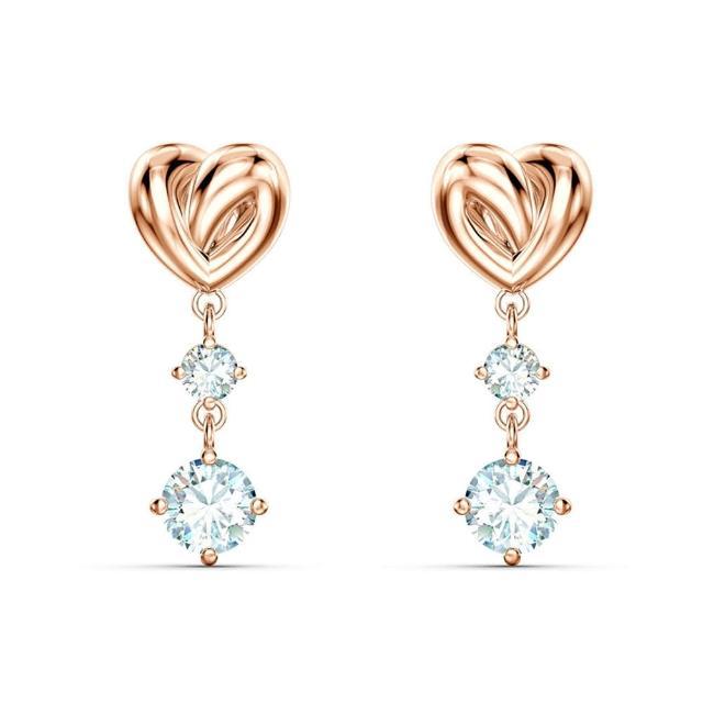 【SWAROVSKI 施華洛世奇】璀璨水晶耳環/項鍊-多款可選