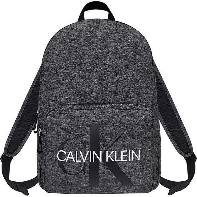 【Calvin Klein 凱文克萊】LOGO超輕量後背包-大型(黑色)