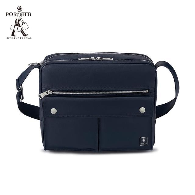 【PORTER INTERNATIONAL】MORI中型雙層斜背包(深藍)