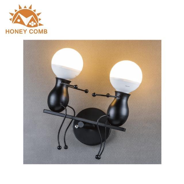 【Honey Comb】童趣蹺蹺板2燈壁燈-黑色款(BL-32007)