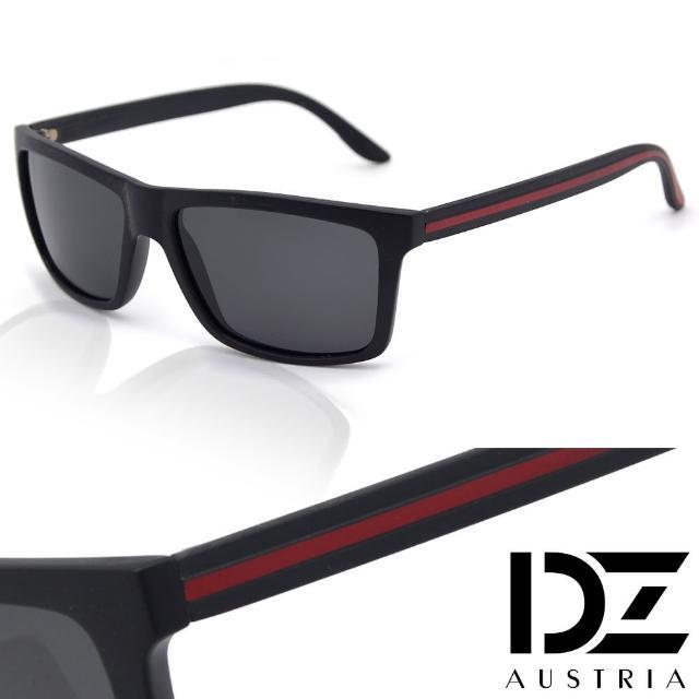 【DZ】UV400防曬偏光太陽眼鏡墨鏡-簡約線條格調(霧黑框灰片)