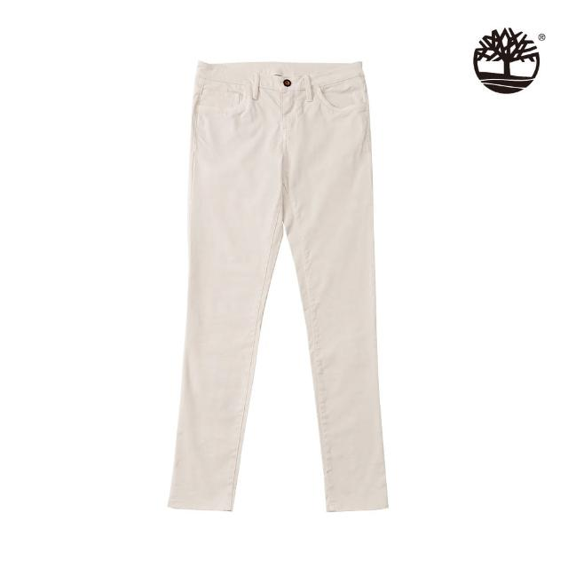 【Timberland】女款白沙色中腰緊身褲(A2C17BH7)