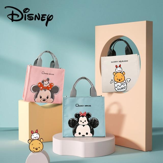 【Disney 迪士尼】簡約媽媽包 雙肩包 手提多功能大容量外出輕便(米奇 米妮 小熊維尼 松松)