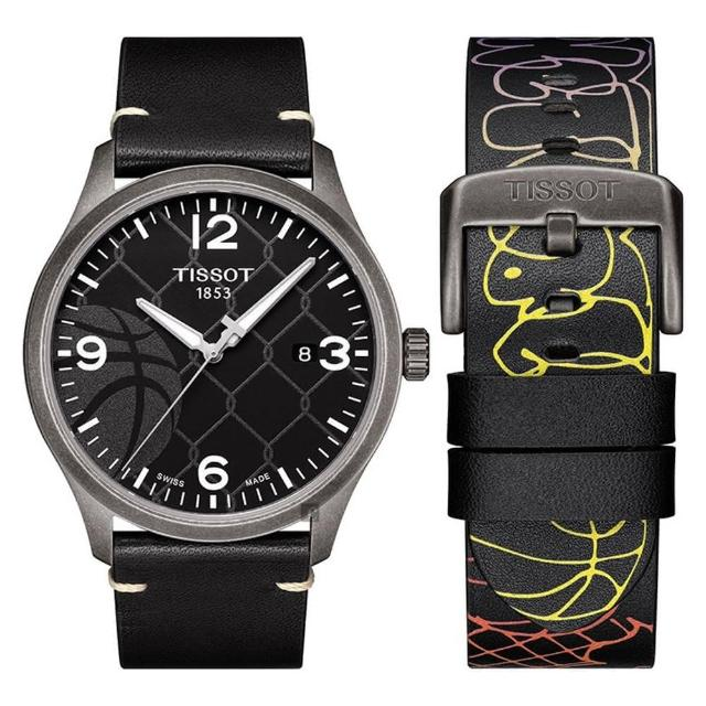 【TISSOT 天梭】CHRONO XL 3X3 街頭籃球特別版手錶(T1164103606700)
